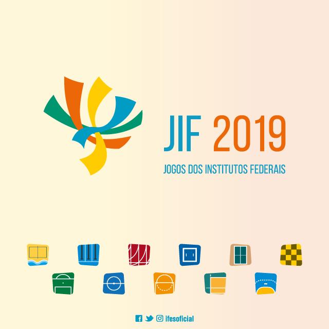 cartaz oficial com a logomarca do JIF 2019