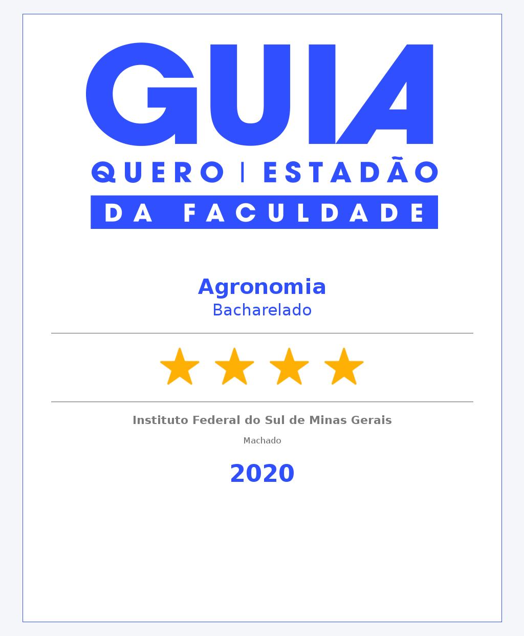 Agronomia Bacharelado Machado 4 Estrelas